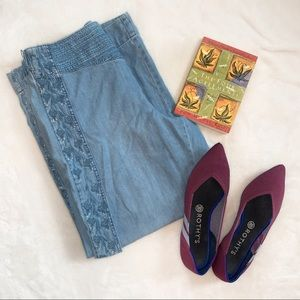 Anthro: Pilcro   Embroidered & Cropped Pants   28